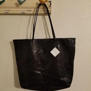 Handbags - Black sparkly tote bag